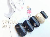 定額Dコース¥☆8,500- (ご新規様¥6,800- )キラキラを散りばめたシンプルネイル 何色でも可愛いです♪