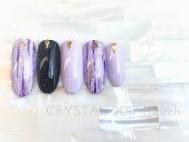 ☆定額Dコース¥8,500- (ご新規様¥6,800- )フルカラーの紫はファッションのポイントに♪ 根元の△スタッズをプラスしてモードな雰囲気に