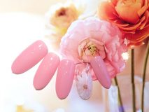 定額Eコース¥7000- (ご新規様¥5600-) ピンクとお花の組み合わせでキュートなデザイン❀
