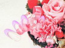定額Eコース¥7000- (ご新規様¥5600-) 優しいお花にマットが好印象のシンプルネイル❁