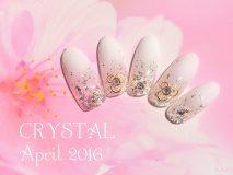 定額Bコース¥11000- (ご新規様¥8800-) 春の陽気にぴったりな白グラにラメの花びら