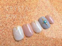 定額Bコース¥11000- (ご新規様¥8800-) 天然石ネイルはカラー次第でバリエーション豊富♪