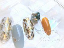 定額Cコース¥9800- (ご新規様¥7840-) クリアにゴールドホイルのデザイン、 実はフットキャンペーンでもご用意しています☆!!