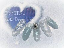 定額Aコース¥12000- (ご新規様¥9600-) Winterならではのダイヤモンドタストみたいな大人ネイル♡