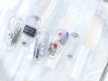 定額Cコース¥9800- (ご新規様¥7840-) オールクリアが今年っぽい モードなボタニカル柄は大人にもオススメ