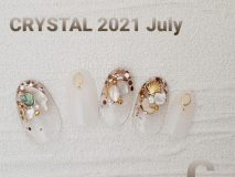💎定額Cコース💎 Paraジェル¥12430 カルジェル¥10780 ご新規様20%オフ  シェルを使用、貝のパーツも入ってます ホワイトとクリアで大人デザイン